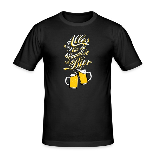 Du brauchst Bier! - Männer Slim Fit T-Shirt