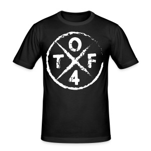 O4TF logo - Männer Slim Fit T-Shirt
