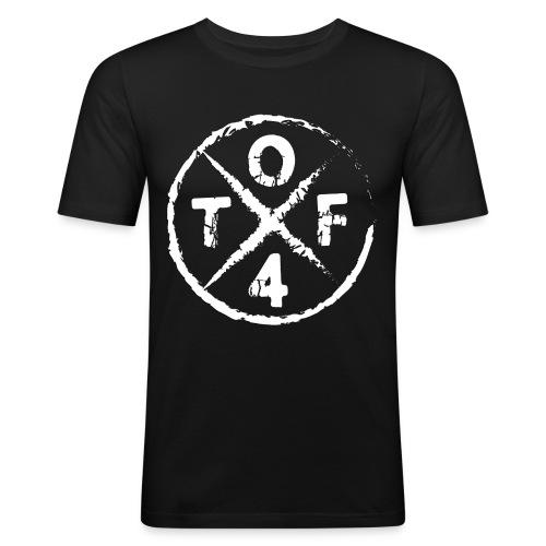 O4TF logo - Männer Slim Fit T-Shirt