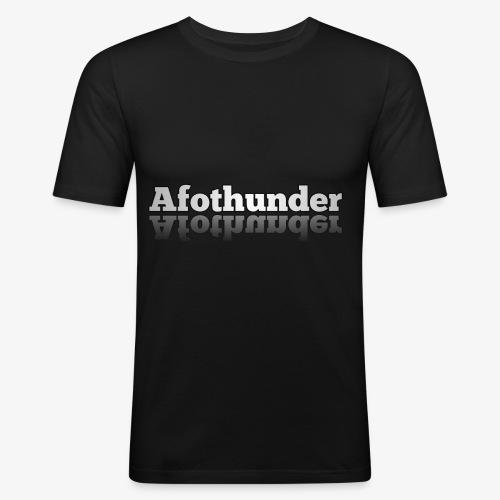 AfoThunder - Männer Slim Fit T-Shirt