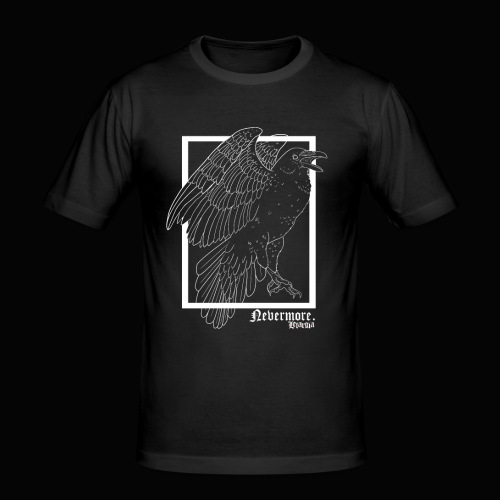 Nevermore in White - Camiseta ajustada hombre