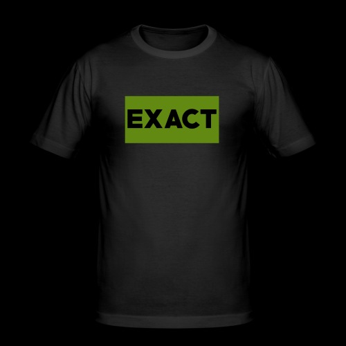 Exact Classic Green Logo - Men's Slim Fit T-Shirt