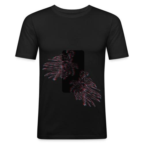 Illusion tropicale noire - T-shirt près du corps Homme