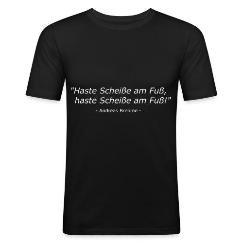Andi Brehme Weisheit - Männer Slim Fit T-Shirt
