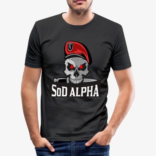 SoD ALPHA TEAM - Männer Slim Fit T-Shirt