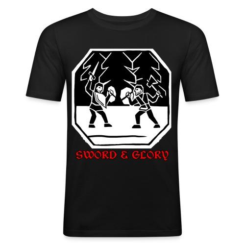 Taistelu - Miesten tyköistuva t-paita