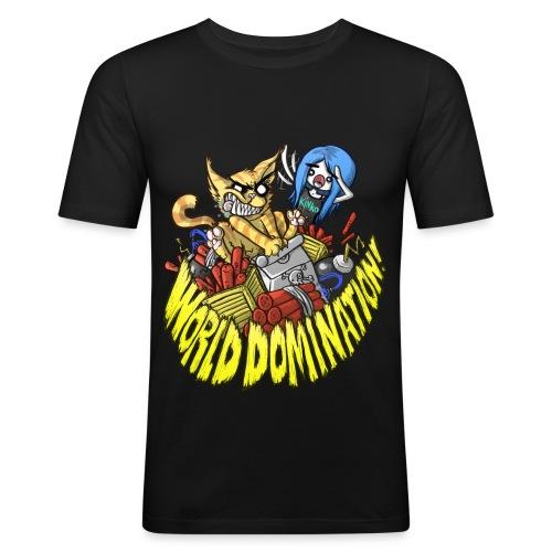 WORLD DOMINATION - Men's Slim Fit T-Shirt
