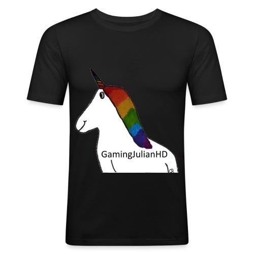 Einhorn gezeichnet - Männer Slim Fit T-Shirt