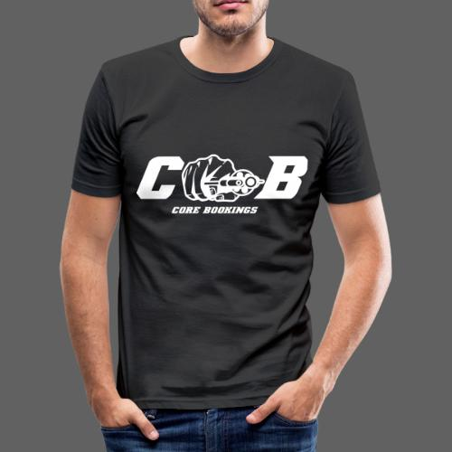CORE Bookings Logo with Text - Männer Slim Fit T-Shirt