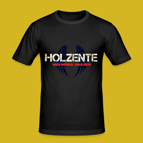 HolzEnte - Männer Slim Fit T-Shirt