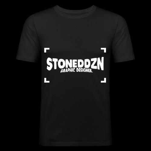 Da ist das YouTube Logo von StonedDzn - Männer Slim Fit T-Shirt