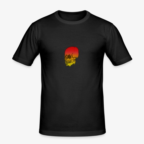 Red and yellow skull melting - Men's Slim Fit T-Shirt