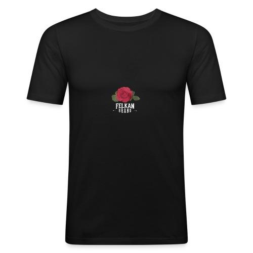 Felkan Brand: Rose Print White - Slim Fit T-shirt herr