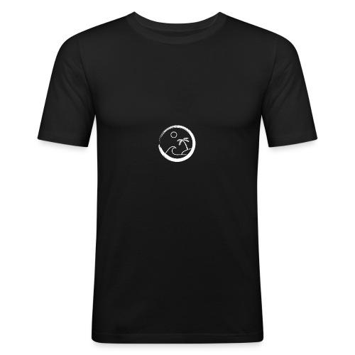 the big surf wave (white) - T-shirt près du corps Homme