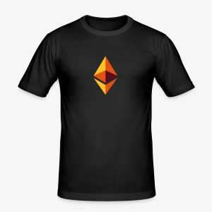 Ethereum Logo (Orange) - Männer Slim Fit T-Shirt