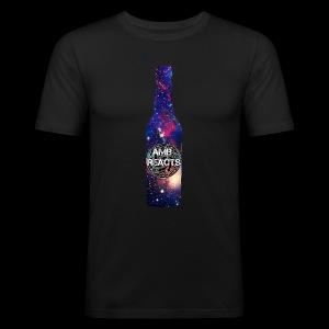 Space beer bottle logo - Men's Slim Fit T-Shirt