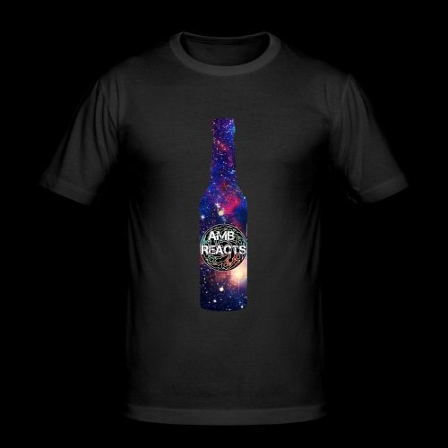 Space beer bottle logo - Men's Slim Fit T-Shirt
