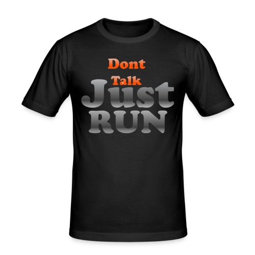 Just Run Limited Shirt, Motivation Laufen, Joggen - Männer Slim Fit T-Shirt