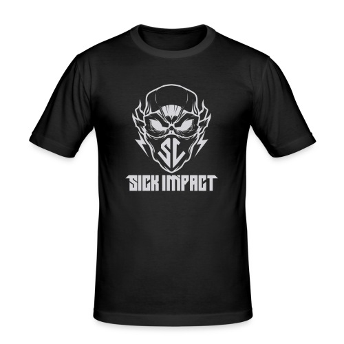 logo grey - Männer Slim Fit T-Shirt