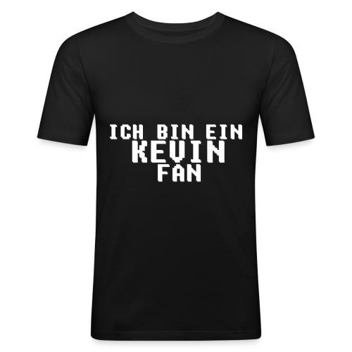 ICH BIN EIN KEVIN FAN LOGO WEIß - Männer Slim Fit T-Shirt
