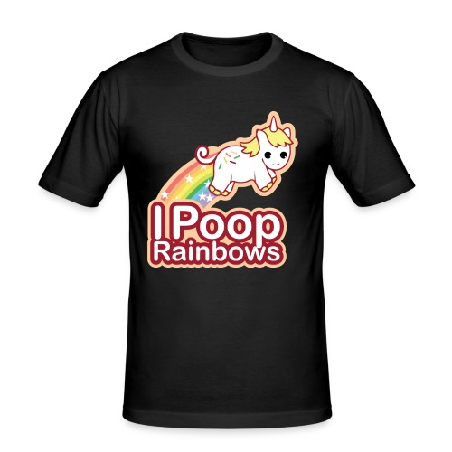 Einhorn Regenbogen Design - Männer Slim Fit T-Shirt