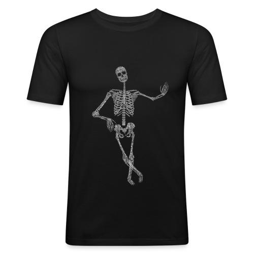 Bewegungsapparat mit Fachbegriffen Tshirt, Skelett - Männer Slim Fit T-Shirt