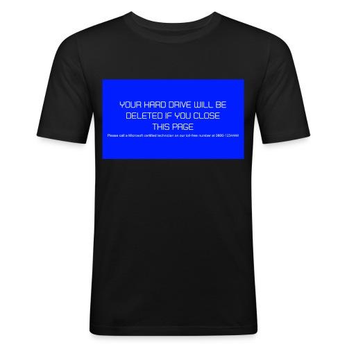Hard Drive Deleted Notice - Men's Slim Fit T-Shirt