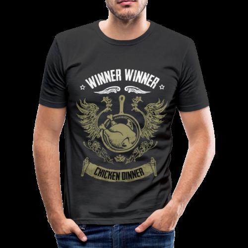 WINNER WINNER CHICKEN DINNER - Männer Slim Fit T-Shirt
