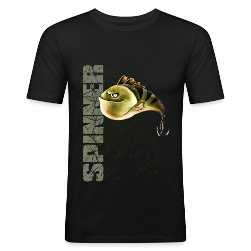 spinner schwarz olive - Männer Slim Fit T-Shirt