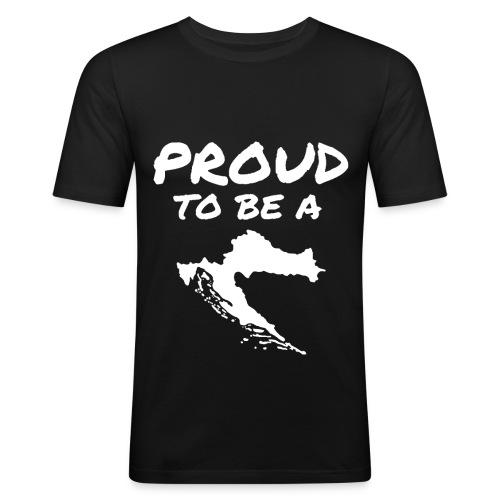 PTBAC white - Männer Slim Fit T-Shirt