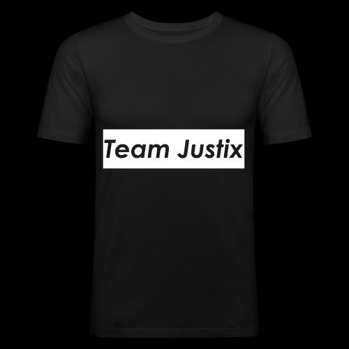 Team Justix im Supremestyle (weiß) - Männer Slim Fit T-Shirt
