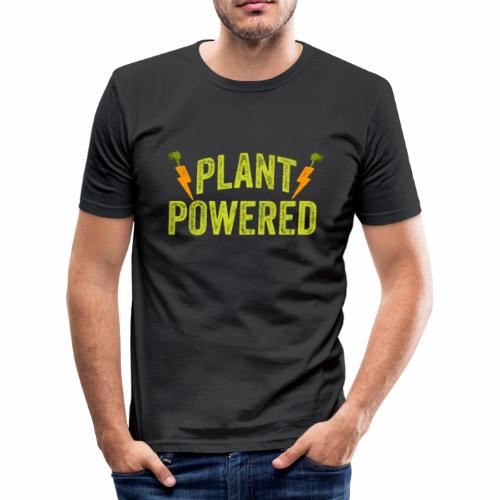 Plant Powered T-Shirt Veganer T-Shirt Geschenk - Männer Slim Fit T-Shirt