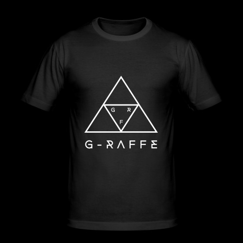 G-RAFFE white triangle - Männer Slim Fit T-Shirt