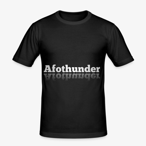 AfoThunder - Männer Slim Fit T-Shirt