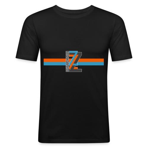 ZZZ BlauOrange - Männer Slim Fit T-Shirt