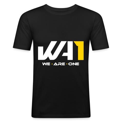 Wir sind ein Logo (weiße Schrift) - Männer Slim Fit T-Shirt