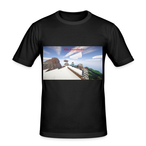 Minecraft Ausenländer - Männer Slim Fit T-Shirt