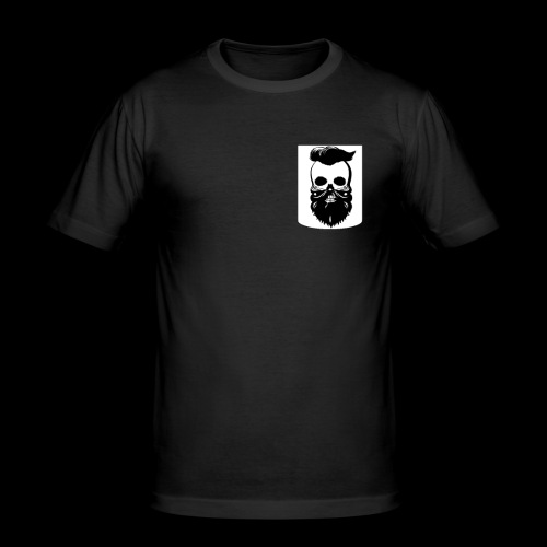 Bart Totenkopf Tattoo Motorrad Biker Pocket Design - Männer Slim Fit T-Shirt