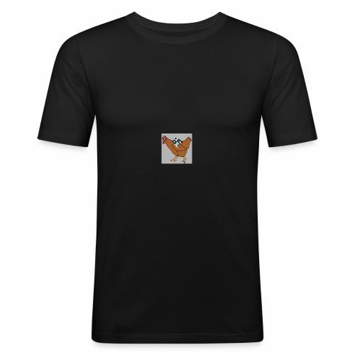 Quad Chicken Logo - Men's Slim Fit T-Shirt
