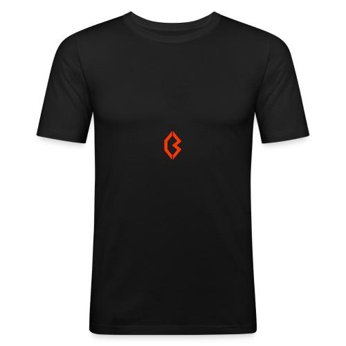 Orange Logo - Men's Slim Fit T-Shirt