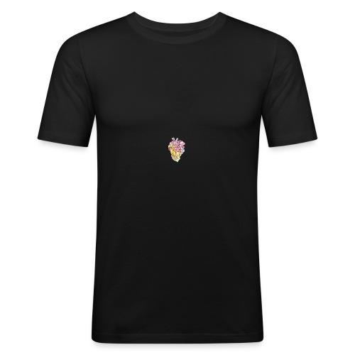 Corazón colores - Camiseta ajustada hombre