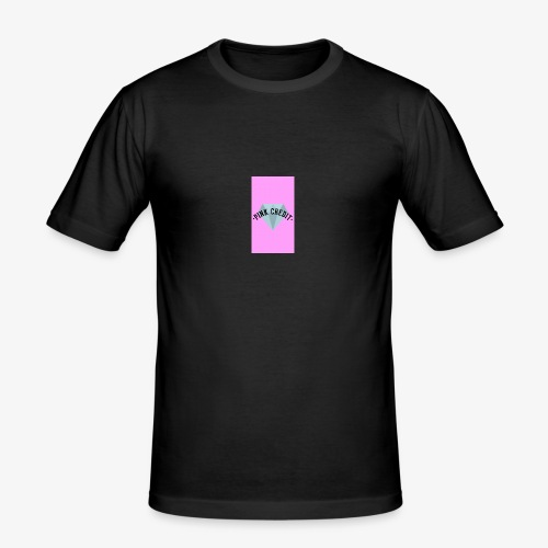PINK CREDIT plane T-Shirt with logo - Men's Slim Fit T-Shirt