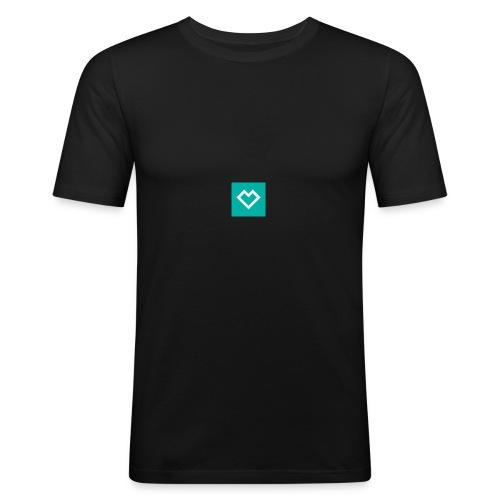 logo social media - Miesten tyköistuva t-paita