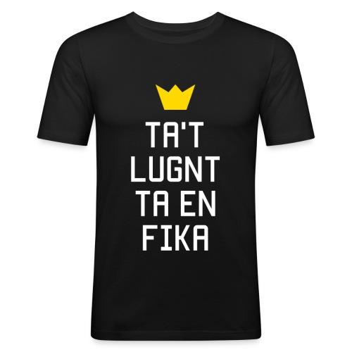 Ta't Lugnt Ta En Fika - Men's Slim Fit T-Shirt