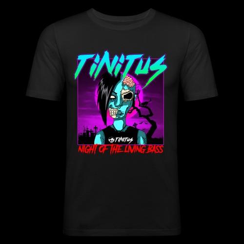 night of the living bass - Männer Slim Fit T-Shirt