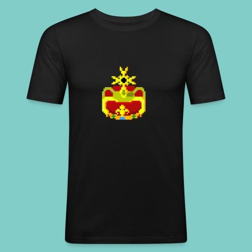 Couronne Pixel art - Tee shirt près du corps Homme