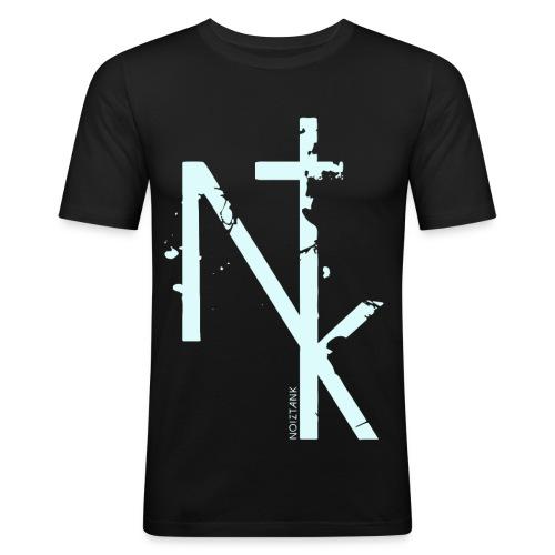 NTK logo white - Männer Slim Fit T-Shirt