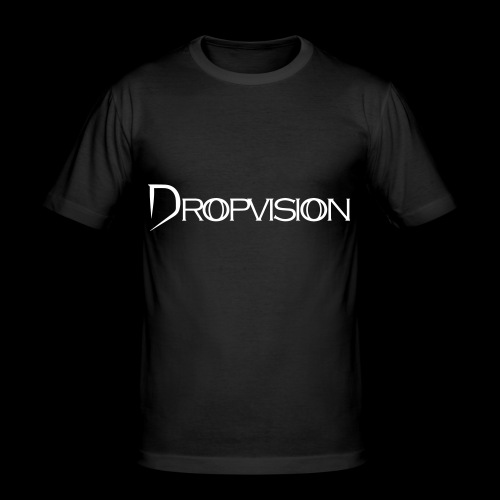Dropvision Logo Vit - Slim Fit T-shirt herr