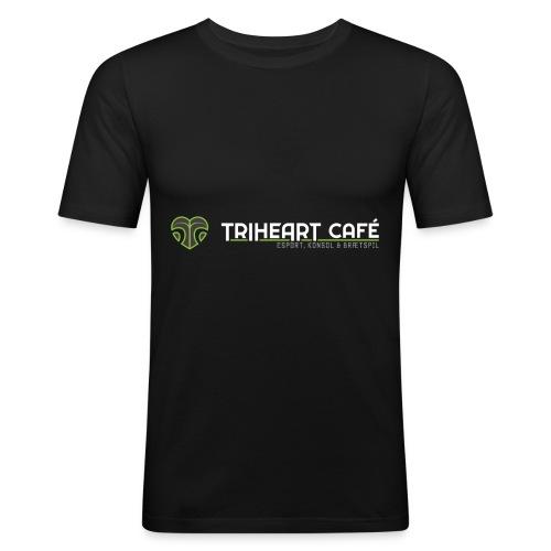 TRIHEART LOGO NEW WHITER - Men's Slim Fit T-Shirt