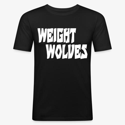 WEIGHT WOLVES FINAL WHITE - Männer Slim Fit T-Shirt